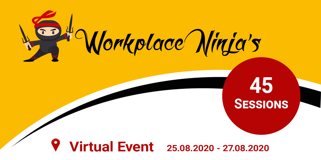 Workplace Ninja Virtual Edition in August (25.-27. August)