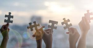 Puzzle mit Händen